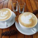 capucino and latte dari room service dengan harga relatif terjangkau