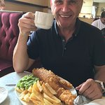 Proper Fish and Chips at Steels corner cafe Cleethorpes