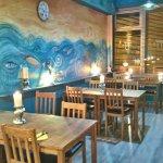our 'beach hut boulevard' dining room