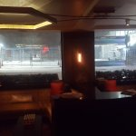 the Hotel lobby and view of Road during the blizzard !