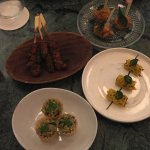 The various appetizer courses