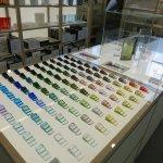 100 popular color samples for the glassworks
