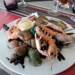 L'entrée fruits de mer du menu gourmand.