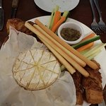 Bar & Brasserie - shared starter of baked camembert