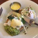 Eggs Benny with avocado
