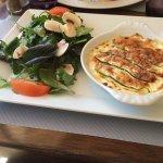 Plat du jour : raviolis au parmesan et jambon cru