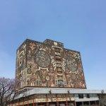 Biblioteca central de la Universidad y sus maravillos murales
