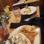 Lobster roll and breast burrito