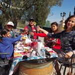 The awesome picnic with organic food!!