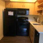 Kitchen section in 2-bedroom suite