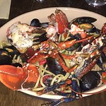 Amazing whole lobster and mussels