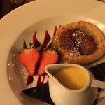 Bakewell Pudding and Custard... amazing!