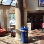 Lobby entrance and breakfast area