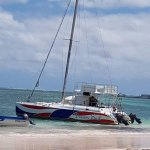 The Catamaran we sailed on