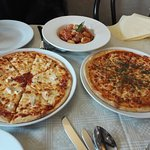 Pizza, Garlic Bread and Gnocchi
