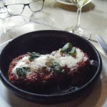 Eggplant parmesan appetizer