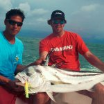 Huge Roosterfish caught fishing in Puerto Vallarta with PV Sportfishing