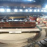 Electrics and diesels at the turntable.
