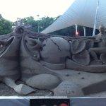 Sand Sculpture (Canadian Artist) Shot April 2017 At The Centro de Convenciones, Costa Azul, Acap