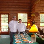 Chefs Sloan and Michael prepared for a special event