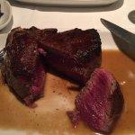 18 oz bone-in fillet mignon cooked medium rare to rare