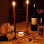 cena romántica interior