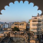 A beautiful view of old town Udaipur from the room.
