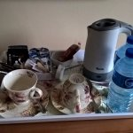 Complimentary Tea/Coffee and Water in the Bedroom