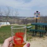 View from outdoor beer garden