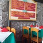 Pizarra con el menu