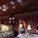 Inside the pullman dining car at Rod's