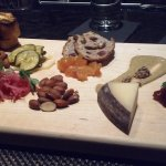 Charcuterie board with choice of one meat and one cheese