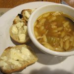 the soup and baguettes