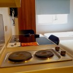 small room with kitchenette