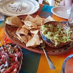 guac and pico from Chencho's