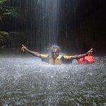 Millennium Cave Santo Vanuatu - Our guide, Christian, showing us how it's done!