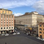 This is the view from the terrace of room 43, overlooking the Piazza Barberini