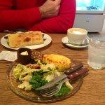 Sandwich and quiche