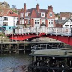 Whitby swing bridge with the Dolphin Hotel behind