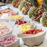 Müsli und Früchte