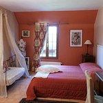 """C'est la chambre """"La Musicienne"""" où on a bien dormi."""