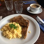 The scrambled egg was excellent; the coffee undrinkable.