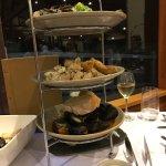 Gorgeous seafood platter, impeccable service