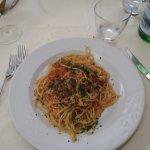 Spaghetti al sugo di luccio