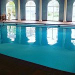 The beautiful indoor pool area