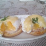 Egg Benedict and Egg Florentine are on the daily breakfast menu