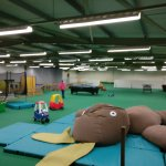Inside the indoor play area
