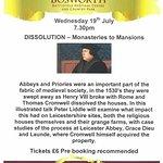 Dissolution of the Monasteries Talk