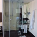 One more view of the shower. Quite big! Just the odd location.