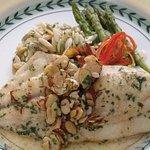 Fresh Pompano over vegetables a la Ron Crider